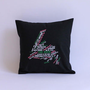 Newfoundland Words Map Pillow Case
