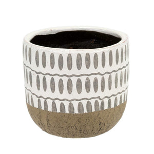 Ennis Flower Pot, White Large
