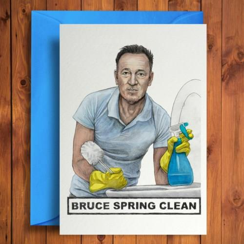 Bruce Spring Clean Card