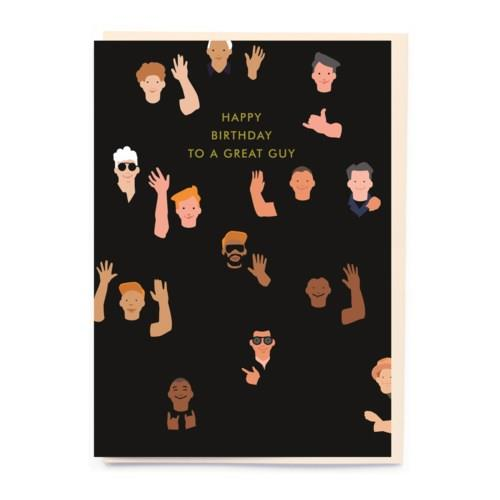 Waving Guys Card