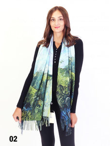 Green Wheat Fields, Auvers Scarf