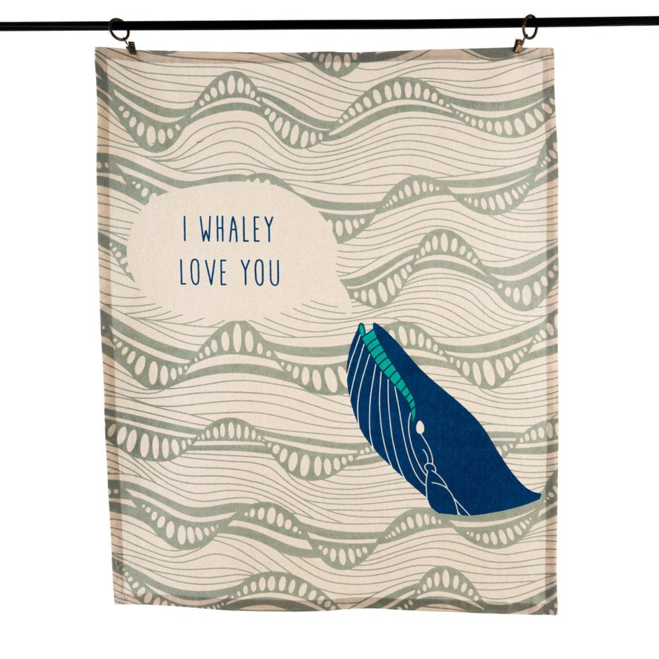 I Whaley Love You Tea Towel