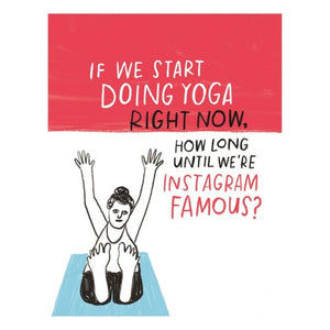 Yoga Instagram Famous Card