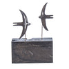 Swallows on Plinth Bog oak One off commission 20cm tall