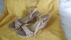 Sahara Sonaran Size 7 1/2 Wedges straw sandals