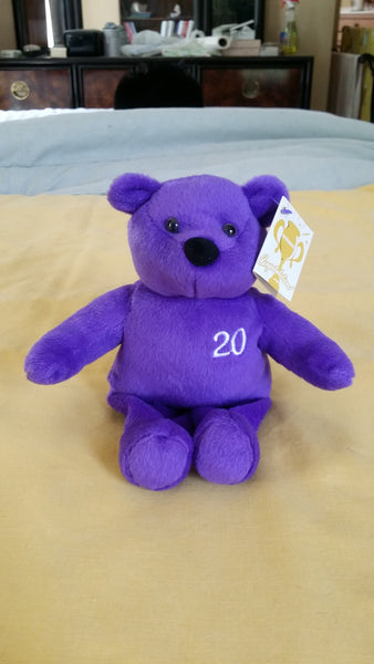Nutrisystem Purple 20 lb Bear 8 inch Bean Bag Plush