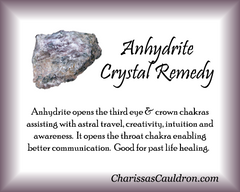 Anhydrite Crystal Essence - Nature's Remedies