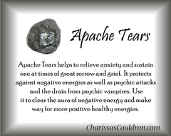 Apache Tears Crystal Essence - Nature's Remedies