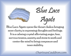Blue Lace Agate Crystal Remedy