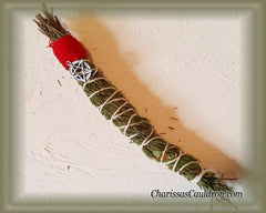 Cedar Smudge Stick with Dandelion, Privet, Cinquefoil & Clover 11 inch