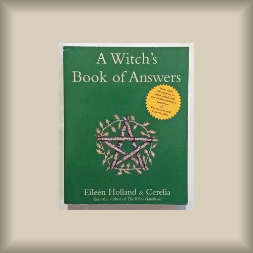 A Witch's Book of Answers by Eileen Holland & Cerelia PB