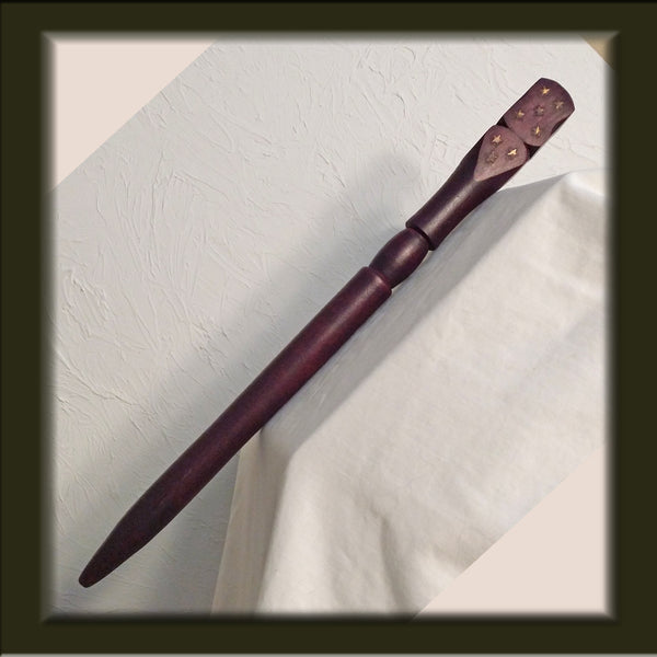 Wooden Carved 15 inch Wand