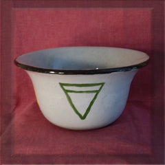 Earth, Air, Fire, Water & Spirit Hand Painted Ceramic Offering Bowl