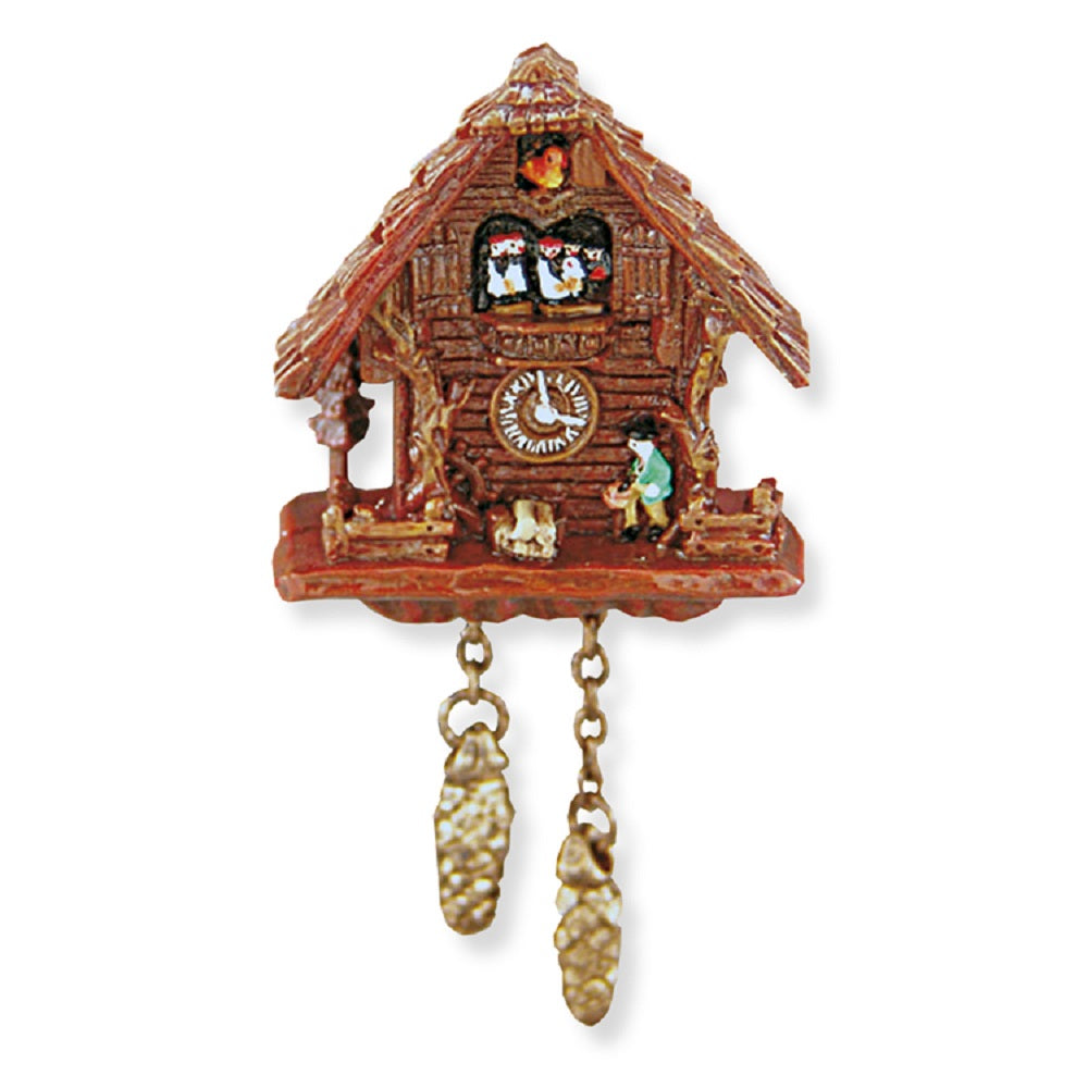 1:12 Scale Black Forest Cuckoo Clock, Resin #1.399/8 - It's Totally Minis