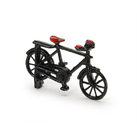 Dollhouse Miniature 1:24 Scale Bicycle, Black Metal #ITM500