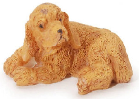 Dollhouse Miniature Dog, Golden Cocker Spaniel #ITM572