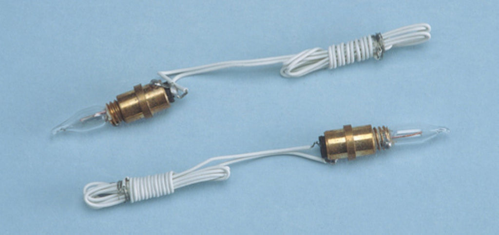 Dollhouse Miniature 12v Screw-base Sockets w/Candleflame Bulbs, Pkg of 2 #CK2103 - It's Totally Minis