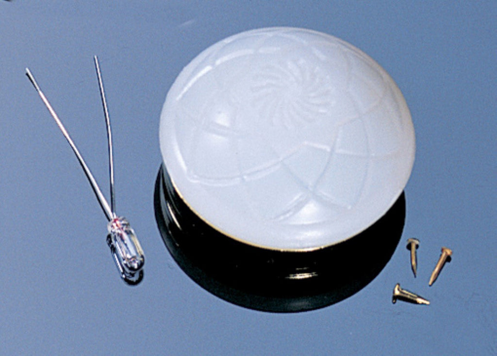 Dollhouse Miniature 12v Ceiling Shade Kit, Patterned Plastic #CK505 - It's Totally Minis