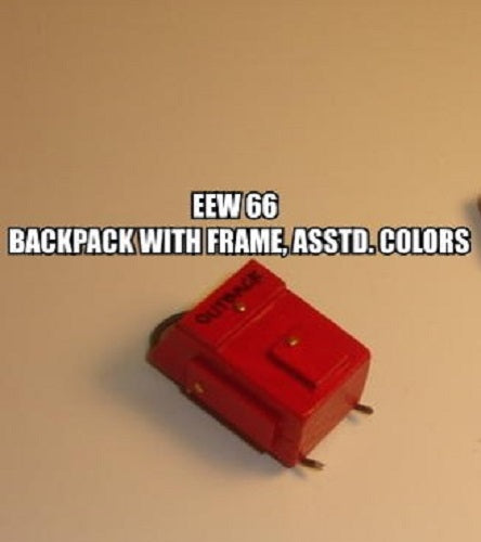 Dollhouse Miniature Backpack, Wood, with Frame, Assorted Colors #EEW66 - It's Totally Minis