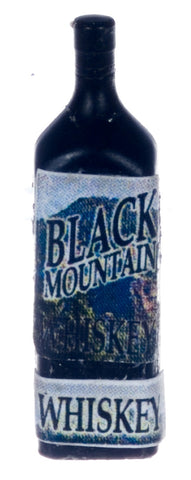 Dollhouse Miniature Resin Liquor Bottle, Black Mountain Whiskey #FA40867