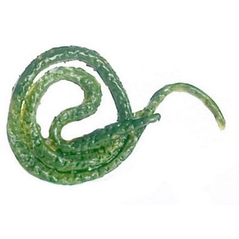 Dollhouse Miniature Green Tree Snake, Plastic #FCA3370