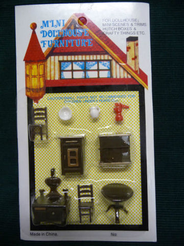 Dollhouse Miniature 1:48 Scale Kitchen Set, Plastic #G1219