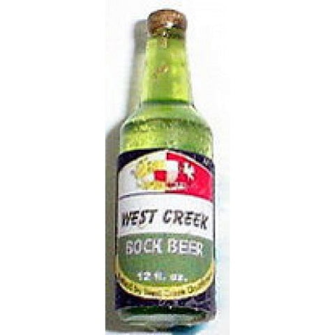 Dollhouse Miniature Resin Beer Bottle, West Creek Bock #HR53942
