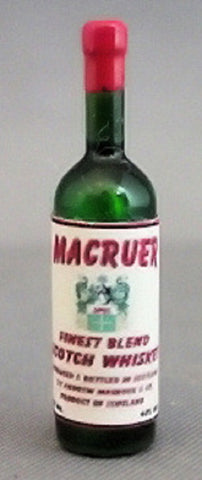 Dollhouse Miniature Resin Liquor Bottle, Macruer Scotch #HR53963