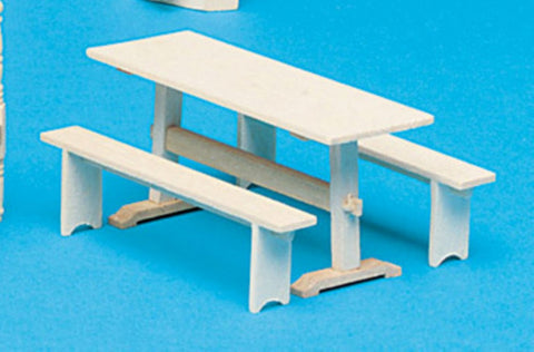 Dollhouse Miniature Trestle Table Kit #HW13106