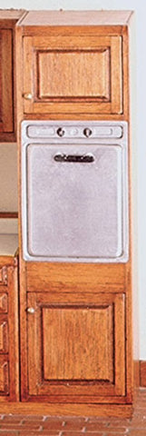 Dollhouse Miniature Oven Cabinet, Assembled #HW14410