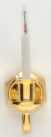 Dollhouse Miniature 12v Single Candle Wall Sconce with Bi-pin Bulb #HW2525