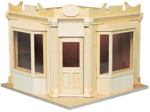 Dollhouse Miniature Corner Shop Kit #HW9991