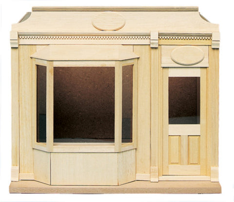 Dollhouse Miniature Shop Kit with Bay Window #HW9992