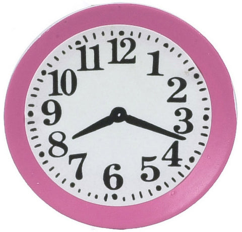 Dollhouse Miniature Wall Clock, Pink #IM65045