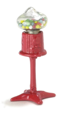 Dollhouse Miniature 1:24 Scale Standing Gumball Machine #IM65375
