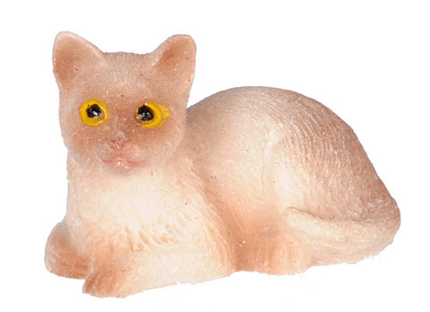 Dollhouse Miniature Siamese Cat, Sitting #IM65459