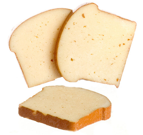 Dollhouse Miniature Slices Of Bread, 3 pcs #IM65509
