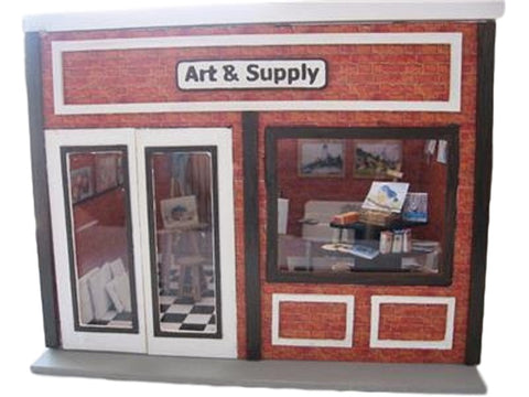 Dollhouse Miniature 1:24 Scale Room Box Kit with Traditional Style Façade #ME0130