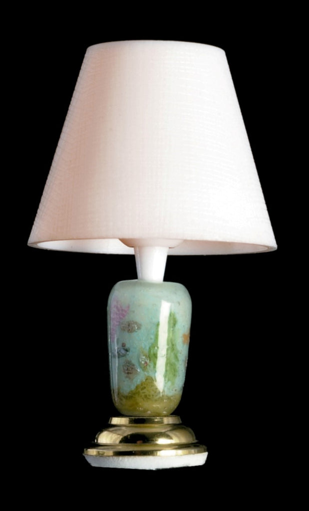 Dollhouse Miniature 12v Table Lamp, Sea Shell Design #T8675 - It's Totally Minis