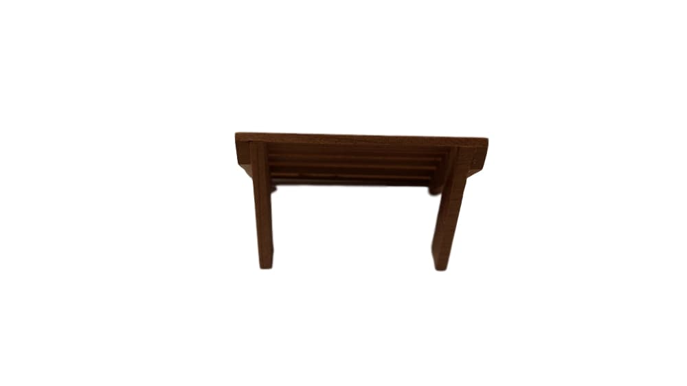 Dollhouse Miniature Adirondack Ottoman, Redwood #TSC005