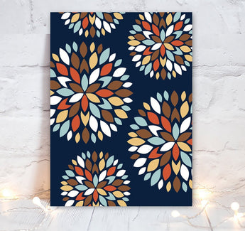 Flower Petals Wall Art, Flower Navy Bedroom Wall Decor, Flower CANVAS or Prints Flower Bathroom Wall Decor, Flower Artwork Single 1 Picture