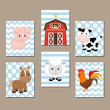 FARM ANIMALS Birthday Decor, Farm Baby Shower, Farm Theme Decorations, Farm Animals Lover Gift for Boy, Farm Party Props Set of 6 Signs