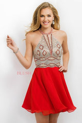 Blush Prom Short Dress Style 11186