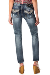"Miss Me ""Western Symbolic"" Embellished Midrise Skinny Jeans (MW7541S)"