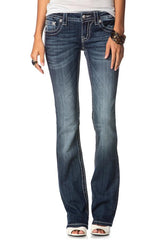 "Miss Me ""Americana Cross"" Boot Cut Jeans (JP6289B)"