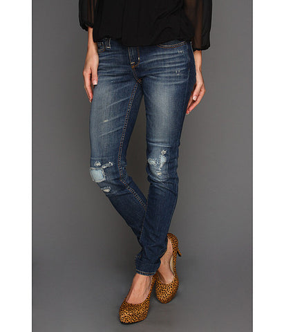 Big Star Alex Mid-Rise Skinny Jeans with Heavy Destruction