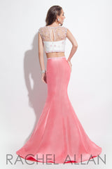 Rachel Allan Two-Piece Long Gown in Coral or Mint (Style #2006)