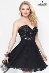 Alyce Paris Short, Strapless Dress (Style #3683)