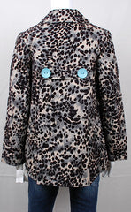 Snow Leopard Print Three Button Jacket by Three Sisters