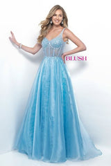 Blush Prom Ball Gown Style 5629